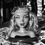 """Flea Market Doll in black and white"" by memoriesoflove"