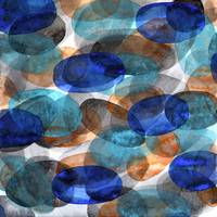 Blue Gray Orange Ovals