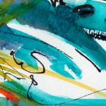 """Abstract Intuitive Calligraphy and Watercolor"" by GinetteCallaway"