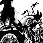 """""""Cowgirl Biker"""" by davegafford"""