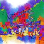 """Street Scene In Soft Abstract"" by Kirtdtisdale"