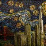 """Dedication to Van Gogh: San Francisco Starry Night"" by jacklepper"