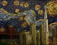 Dedication to Van Gogh: San Francisco Starry Night
