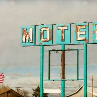 American Retro Motel Sign Art Prints & Posters by James