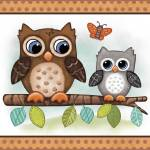 """Owls - Woodland Animal Tales Nursery Art"" by Littlepig"