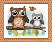 Owls - Woodland Animal Tales Nursery Art