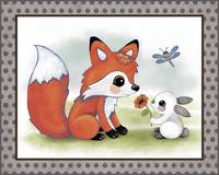 Fox and Bunny - Woodland Animal Tales Nursery Art