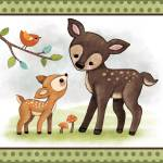 """Woodland Animal Tales Series Childrens Nursery Art"" by Littlepig"