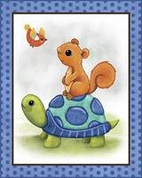 Turtle and Bird - Woodland Animal Tales Nursery Ar