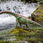 """Brachiosaurus at Jurassic Falls"" by Littlepig"