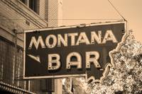 Miles City, Montana - Bar Neon Sepia 2007