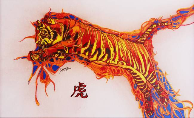 Stunning chinese pencil drawings and illustrations for - Chinese year of the tiger 1986 ...