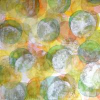 Silver Green Yellow Circles