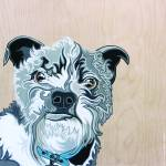 """Albert the Terrier Mix Dog Portrait"" by VeganMe"