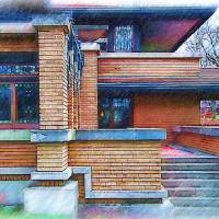Meyer May House Sketched Art Prints & Posters by Kirt Tisdale
