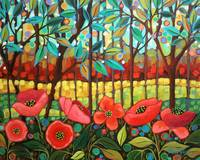 Poppys And Trees