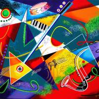 Performing Arts - Energy of Music Art Prints & Posters by Galina Victoria