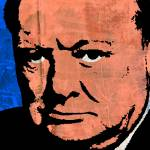 """WINSTON CHURCHILL (COLOUR)"" by thegriffinpassant"