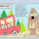 """Bigfoot rules"" by jkwilliamsartdogg"