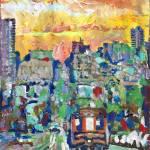 """San Francisco Cable Car Sunset"" by BeaconArtWorksCorporation"