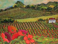 Poppy's In The Vineyard