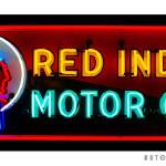 """Red Indian Motor Oil Sign"" by Automotography"