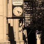 """Miles City, Montana - Downtown Clock"" by Ffooter"