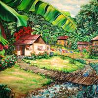 village life Art Prints & Posters by KARIN DAWN BEST