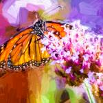 """Monarch Butterfly Impasto"" by johncorney"