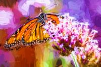 Monarch Butterfly Impasto