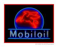 Mobil Oil Neon Sign