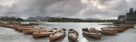 Boats in a lake in Derwent Water