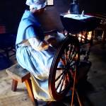 """Colonial Woman Spinning"" by susansartgallery"