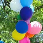 """Balloons Under Green Canopy"" by GlendinePhotography"