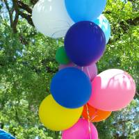 Balloons Under Green Canopy Art Prints & Posters by Glendine Prints