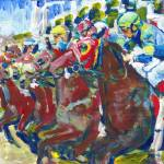 """""""And Theyre Off Horse Races"""" by BeaconArtWorksCorporation"""
