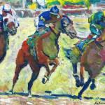 At The Horse Races Del Mar California by RD Riccoboni