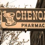 """Route 66 - Chenoa Pharmacy"" by Ffooter"