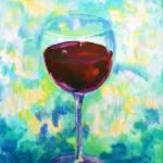 """RedWineGlass"" by AMVaughn"