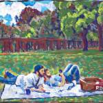 """Picnic Gay couple"" by BeaconArtWorksCorporation"