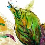 """Modern Art Leaf Nature Watercolor by Ginette"" by GinetteCallaway"
