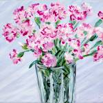 """Pink Carnations in a Vase"" by SanaKiy"