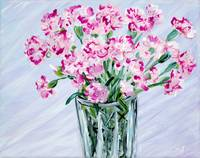 Pink Carnations in a Vase