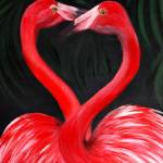 """Flamingo Love"" by SanaKiy"
