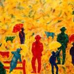 """Cowboys in the rain"" by carmen-b-costello"
