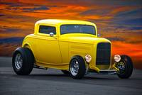 1932 Ford 3 Window HiBoy Coupe I