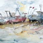 """Fishing Boats at Hastings"