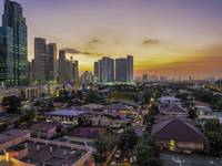 Makati Philippines at Sunset