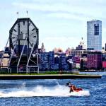 """Jet Skiing by Colgate Clock"" by susansartgallery"