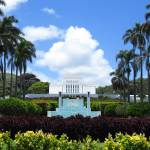 """Laie, Hawaii Mormon Temple"" by joeyartist"